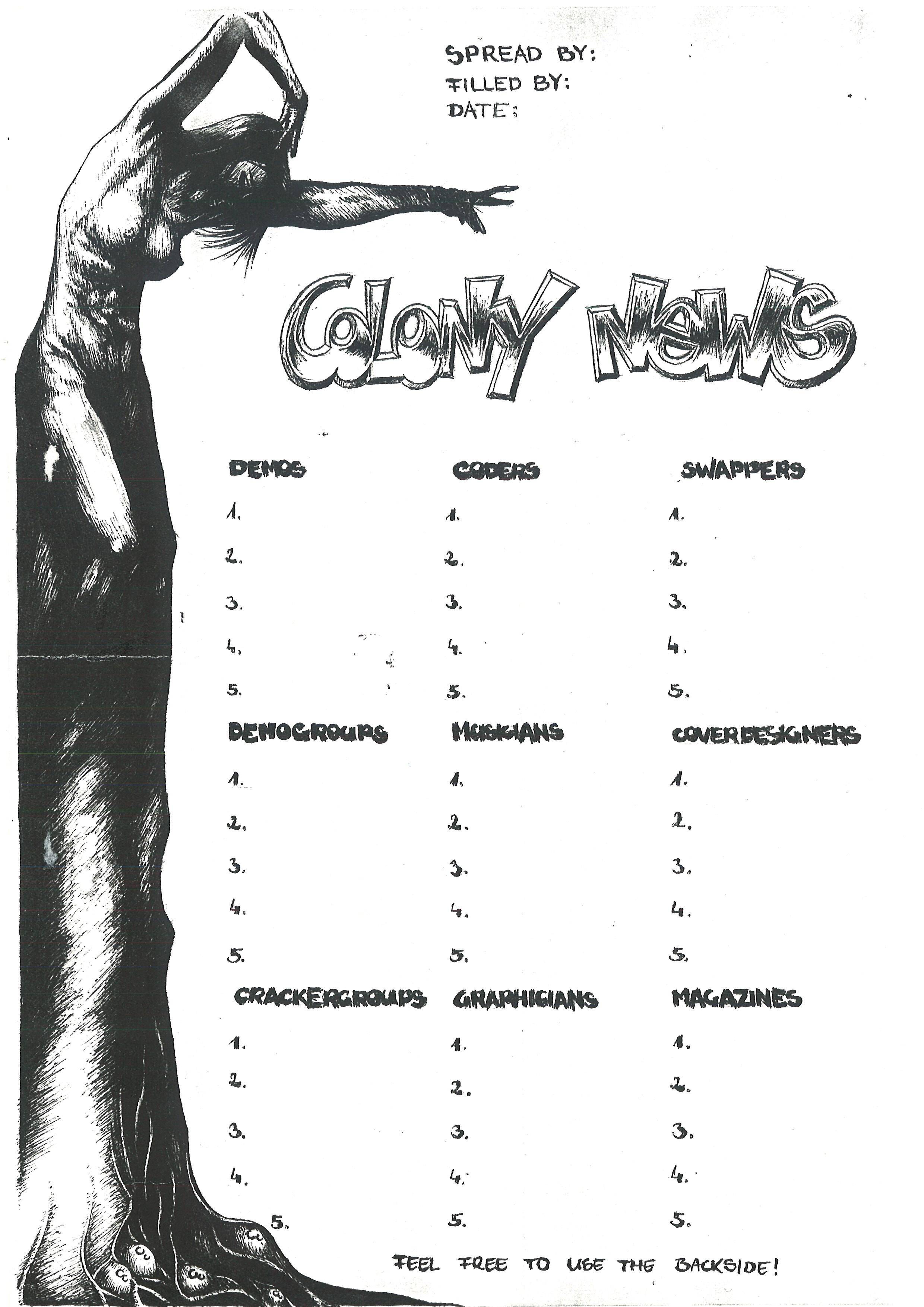 detailed look 68b9d eefeb Blasphemy votesheet, 1990s  link  • Channel II votesheet, 1999  link  •  Colony News votesheet, between 1997 and 1999  link