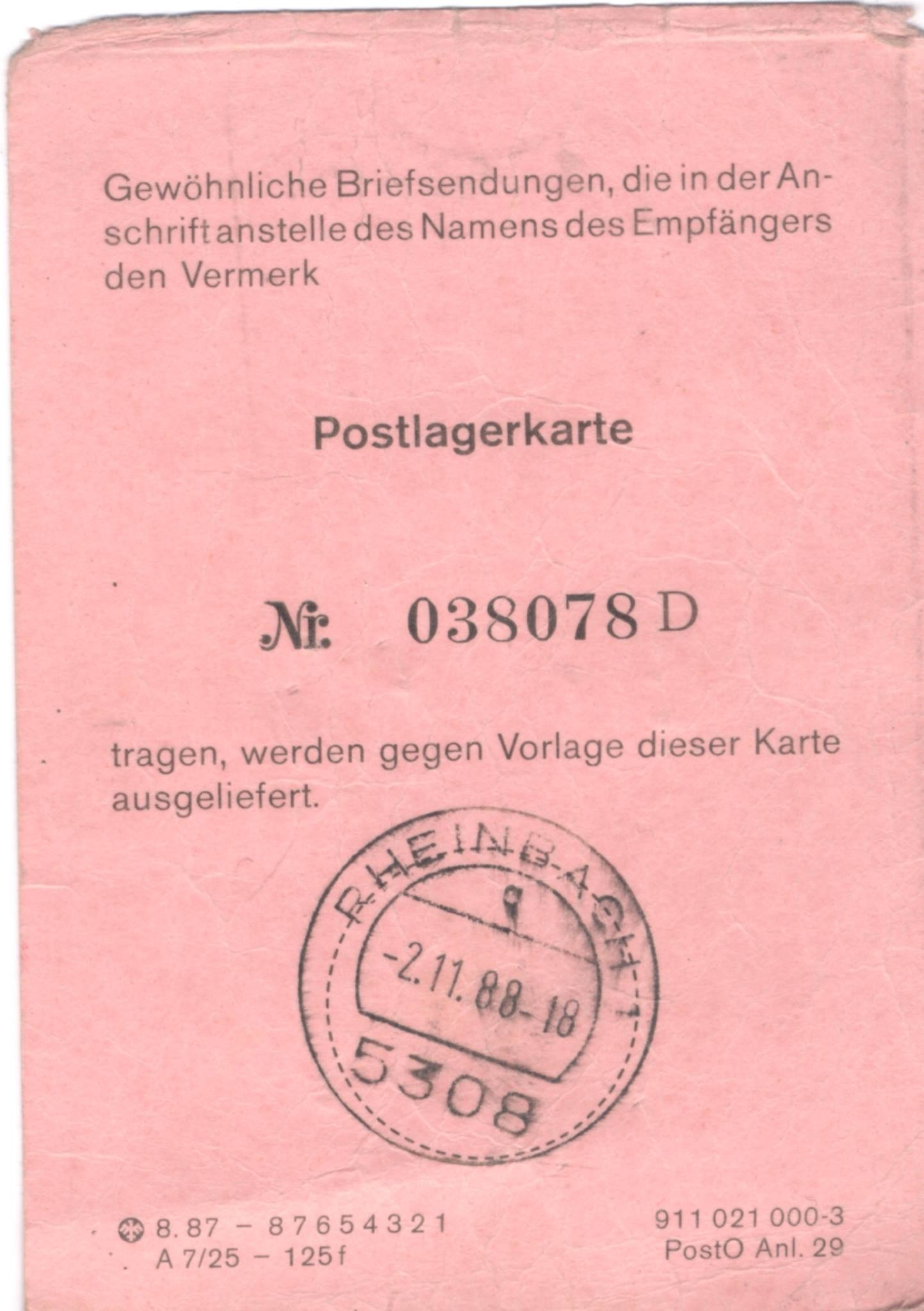 """5f7748fb5c52fd PLK is short for """"Postlagerkarte"""" and roughly translates as """"Mail storage  card"""". Introduced by the German Imperial Post in 1910, it was a service  that ..."""